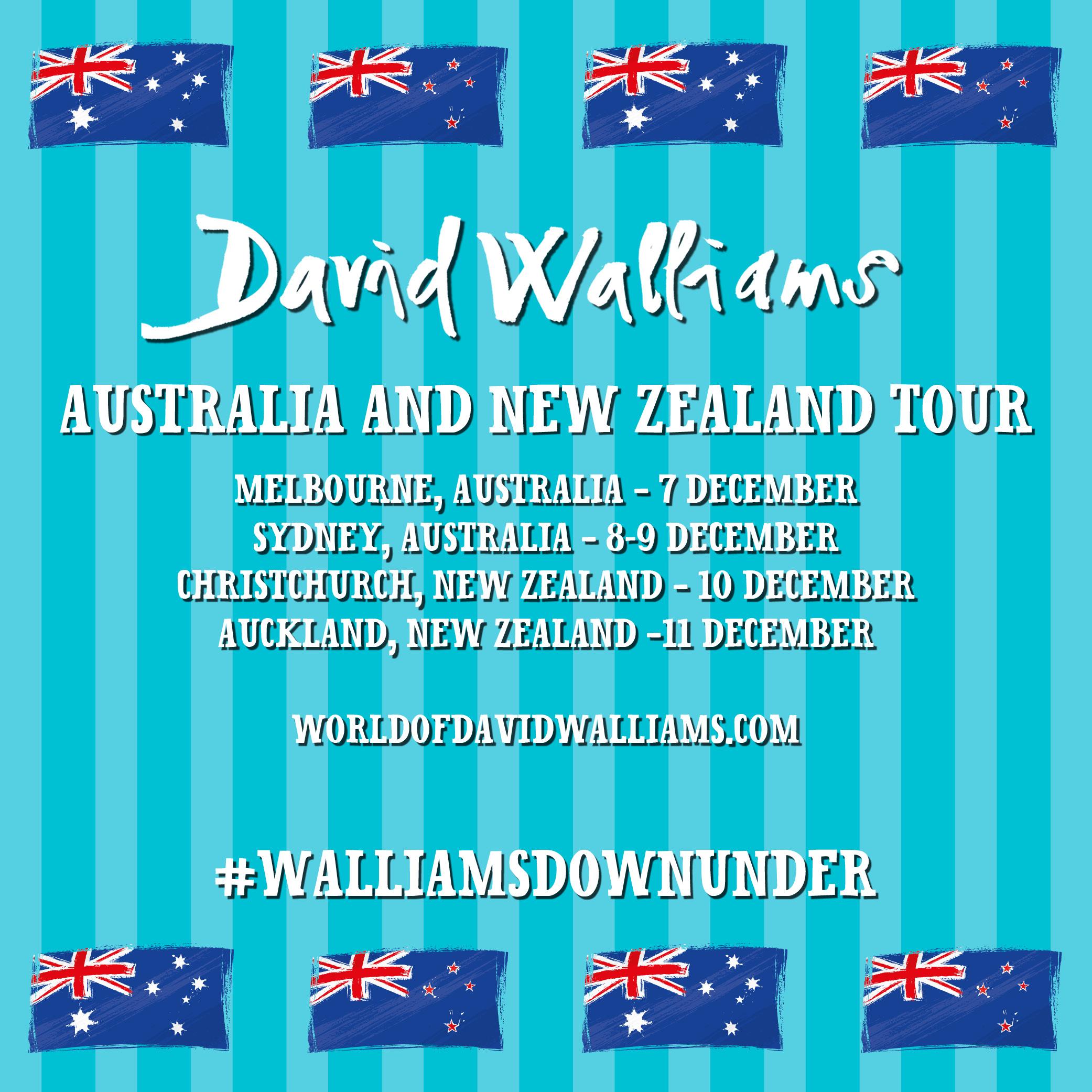 David Walliams to visit Australia and New Zealand!